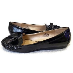 Studio Works Charming Black Bow Flats, 9M
